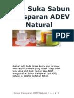 Saya Suka Sabun Transparan ADEV Natural by Firmahn