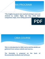 Introduction CMA Program
