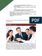 Solución de Controversias en La Ejecución Contractual