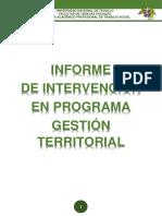 Informe de Programa de Gestión Territorial Lunes