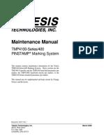 Marcadora Telesis Manual de mantenimiento