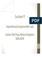 Lecture 9 -  Sequential and programmable logic