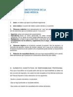 Elementos Constitutivos de La Responsabilidad Medica