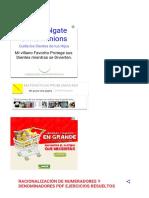 Racionalización de Numeradores y Denominadores PDF Ejercicios Resueltos