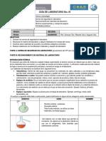 GUIA de LABORATORIO - Reconomiento de Materiales 2019
