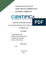 MONOGRAFIA FINAL DE QUÍMICA_CONTAMINACIÓN DE AGUA POR ACCIÓN DE LOS ANTIBIÓTICOS (2).docx