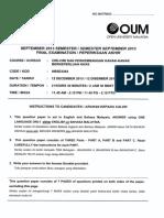 Final Exam HBSE3303 OUM