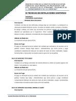 04. Especificaciones Tecnicas Instalaciones Sanitarias - Medallita