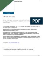 Metodo de Piano Fbeyer Clases Online