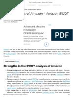 SWOT Analysis of Amazon - Amazon SWOT Analysis
