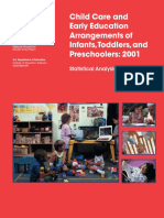 Child Care and Early Education Arrangements of Infants Toddlers and Preschoolers 2001