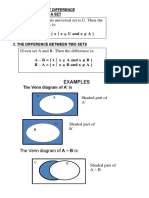 Complement and Set Difference
