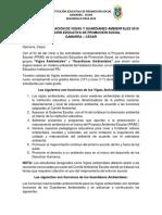 Acta de Conformación de Vigías y Guardianes Ambientales 2019