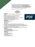 Sample ICU Nurse Resume