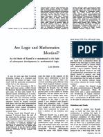 Are logic and mathematics identical?