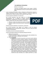 Clasificación de Las Empresas Pesqueras