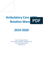 ambulatory care appe rotation manual