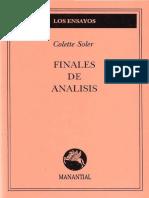 Colette Soler - 1988 - Finales de Análisis