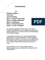 SAP ASAP Methdology