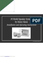 Manual De Usuario De Equipo De Audio (2.1) PCWorks