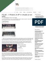 PG-8X – Il Roland JX-8P in Virtuale (e Non Solo)