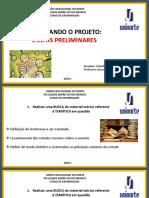 ETAPAS PRELIMINARES apresentação do TCC