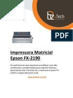 Manual Epson Fx 2190