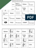 Notation Bingo