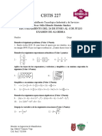 Examen Recursamiento Algebra Junio 2019