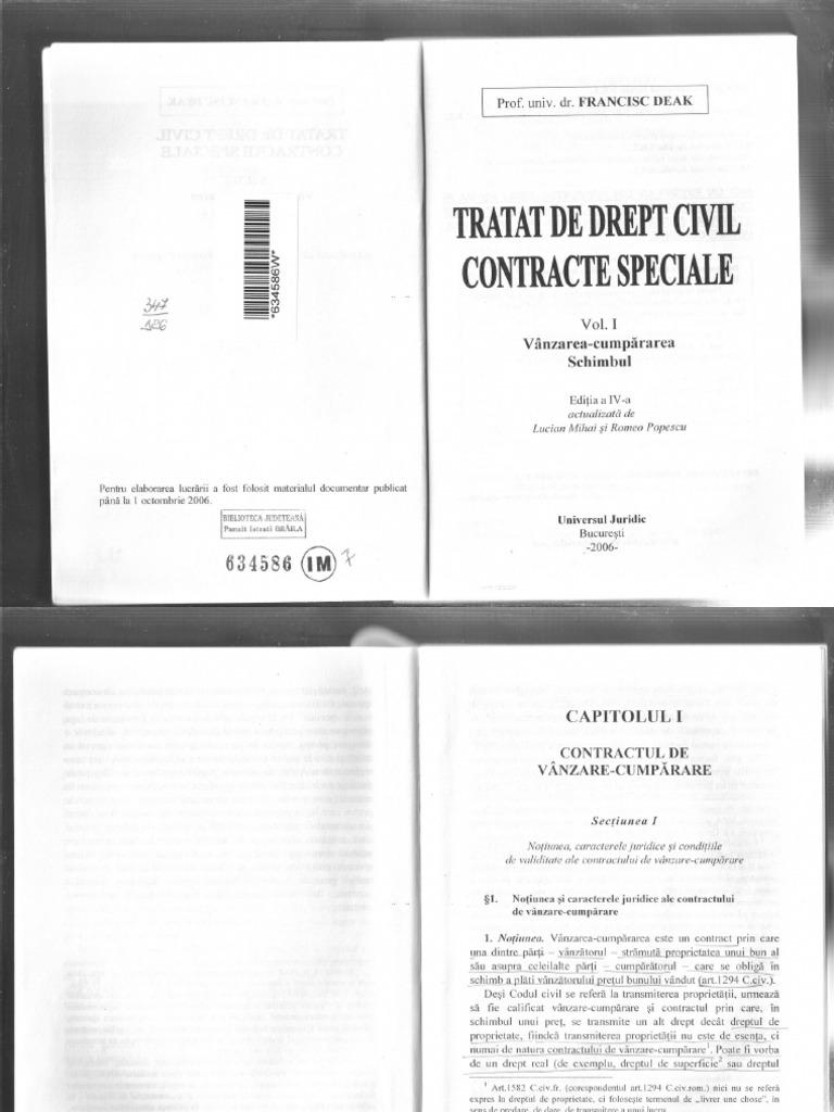 Francisc Deak Contracte Speciale Pdf