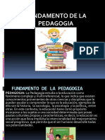 Fundamentos de La Pedagogia - Copia