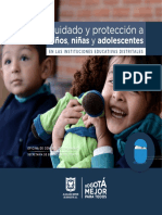 Cartilla Cuidado Proteccion Ninos Adolescentes Instituciones Educativas Distritales