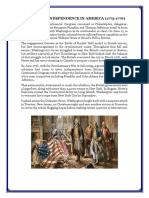 Declaring Independence in America