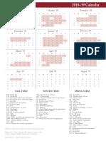 Refrigerator Calendar 2018-19