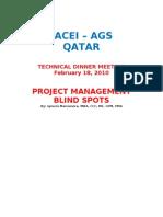 PROJECT MANAGEMENT BLIND SPOTS v 1.0