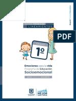 Guía actividades Socioemocional para 1°