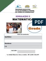 Simulacro 5 Matemática
