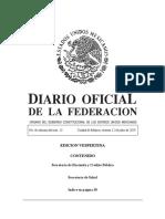 Diario oficial de la Federación Mexicana 12072019-VES