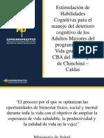 Diapositivas sobre estimulación cognitiva