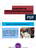 Inscripción de Organizaciones Políticas