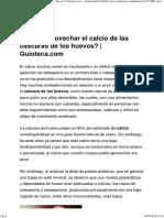 ¿Cómo Aprovechar El Calcio de Las Cáscaras de Los Huevos_ _ Guioteca