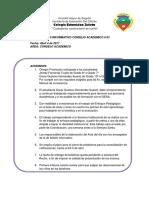 Acta Boletin Nro 3 Consejo Academico