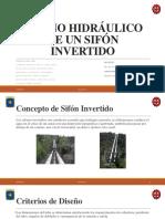 Diseño Hidráulico de Un Sifón Invertido
