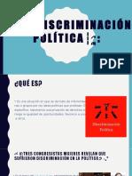 ːDiscriminación Política