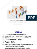 Clase 7 -  IPC - Condicion de carrera - Region Critica - Exclusion Mutua.pdf