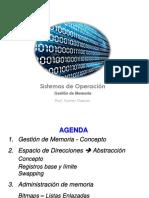 Clase 12 - Memoria - Espacio de Direcciones - Administracion de Memoria.pdf