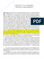 309350895 El Quijote y La Teoria de La Novela Moderna PDF