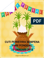 15 Jan Cuti Ponggal