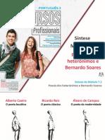 Síntese_ Fernando Pessoa - Poesia dos heterónimos e Bernardo Soares