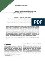 Respuesta Dinámica de La Estructura de Pavimento de Hormigón Con Capa Aislante de Asfalto Bajo Cargas Móviles